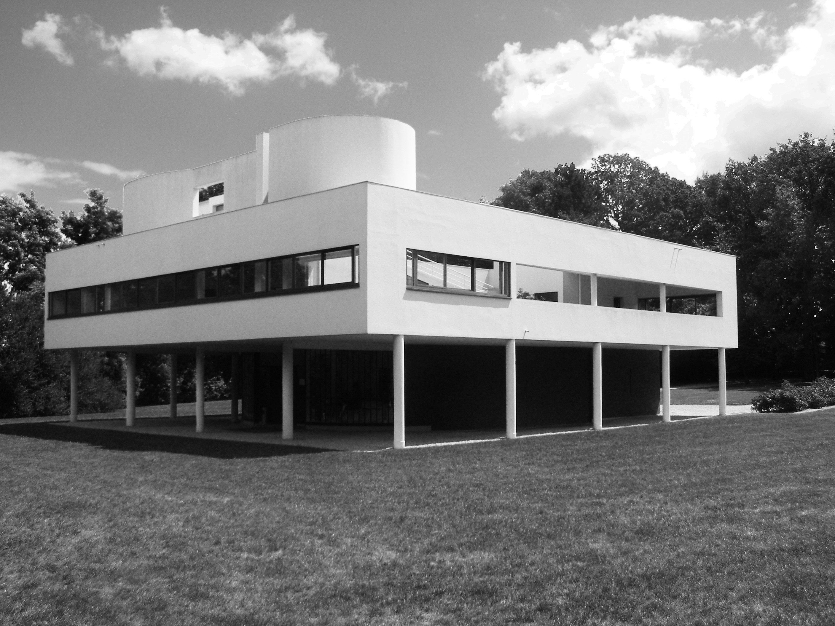 Buildings villa savoye for Poissy le corbusier